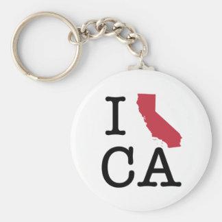 Amo California Llavero Redondo Tipo Pin