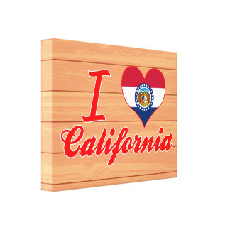 Amo California, Missouri Lienzo Envuelto Para Galerias