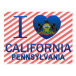 Amo California, PA Tarjeta Postal