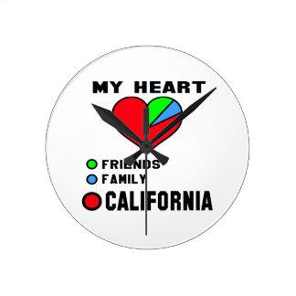 Amo California Reloj Redondo Mediano