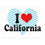 Amo California Tarjeta Postal
