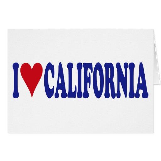 Amo California Tarjeton