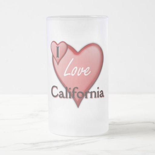 Amo California Taza Cristal Mate
