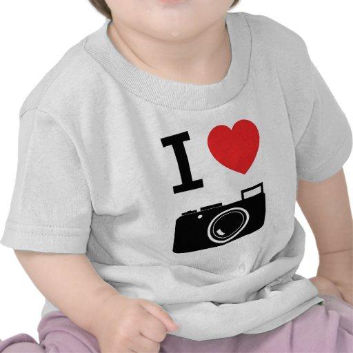 Amo cámaras camisetas