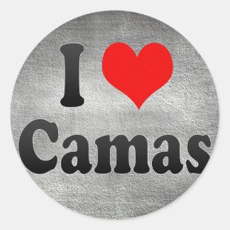 Amo Camas España Yo Encanta Camas España Pegatinas Redondas