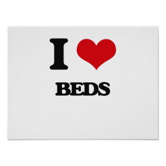 Amo camas póster