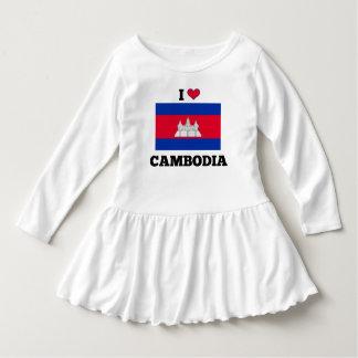 Amo Camboya, bandera camboyana Vestido
