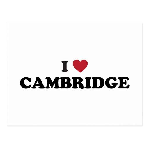 Amo Cambridge Massachusetts Tarjeta Postal