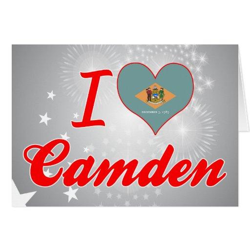 Amo Camden, Delaware Tarjeta De Felicitación