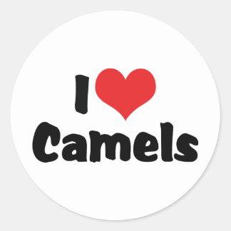 Amo camellos pegatina redonda