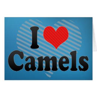 Amo camellos tarjeta de felicitación