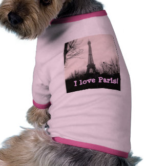"""""""Amo camiseta del perro de París"""" Ropa De Perros"""