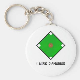 """""""Amo camisetas y los regalos del béisbol de los di Llaveros"""