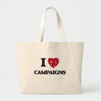 Amo campañas bolsa tela grande