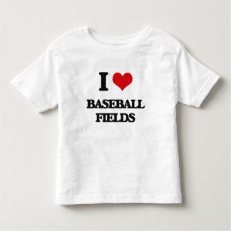Amo campos de béisbol camisetas