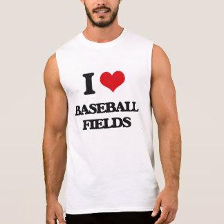 Amo campos de béisbol camiseta sin mangas