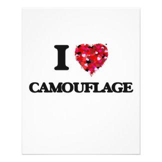 """Amo camuflaje folleto 4.5"""" x 5.6"""""""