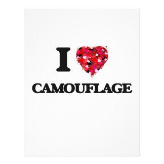 """Amo camuflaje folleto 8.5"""" x 11"""""""