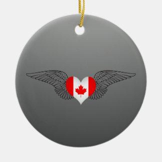 Amo Canadá - alas Adorno De Navidad