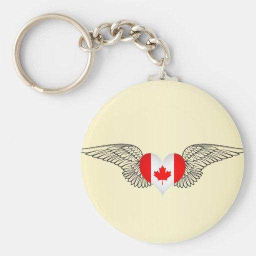 Amo Canadá - alas Llaveros Personalizados