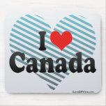 Amo Canadá Alfombrillas De Ratones