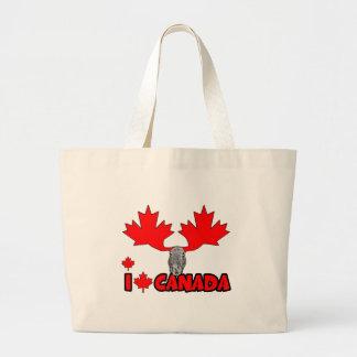 Amo Canadá Bolsa Tela Grande