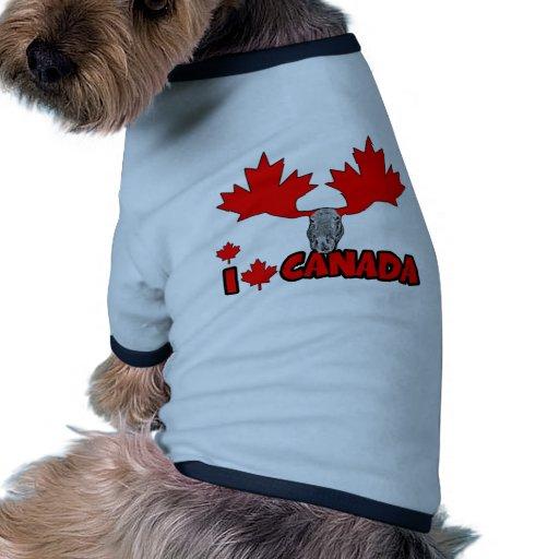 Amo Canadá Camisas De Mascota