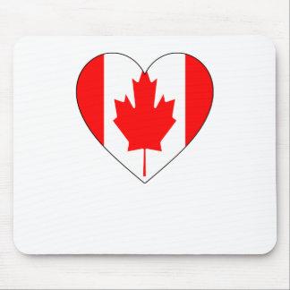 Amo Canadá - camisetas de la bandera del vintage Tapetes De Ratones
