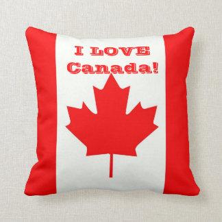 ¡Amo Canadá! Cojín Decorativo