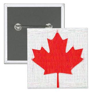 ¡Amo Canadá! Diseño canadiense de la mirada de la  Pin Cuadrado