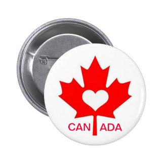 Amo Canadá ~ el 1 de julio Pin Redondo 5 Cm