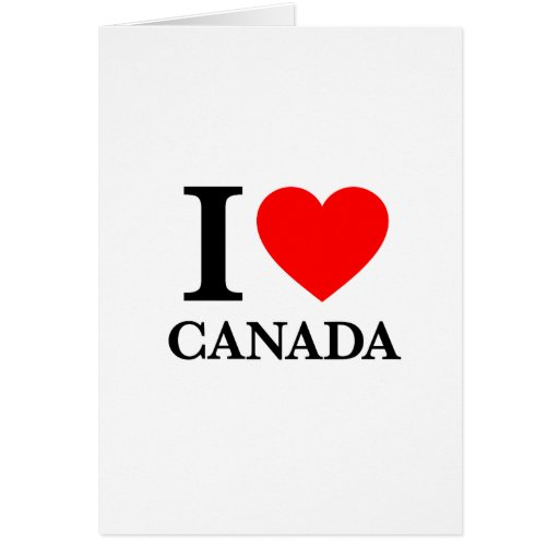 Amo Canadá Felicitación