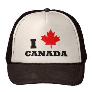 Amo Canadá Gorros