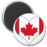 Amo Canadá Iman De Frigorífico