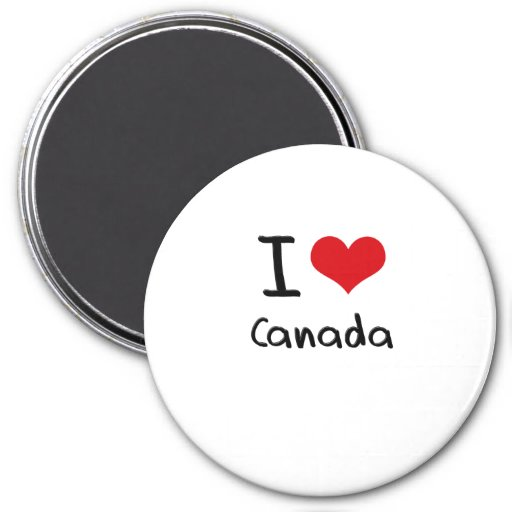 Amo Canadá Imán Redondo 7 Cm