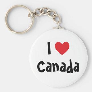 Amo Canadá Llaveros