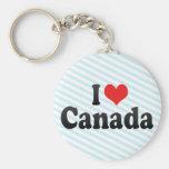 Amo Canadá Llaveros Personalizados