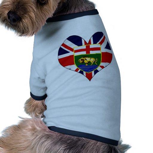 Amo Canadá Manitoba Camisa De Perro