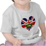 Amo Canadá Manitoba Camiseta