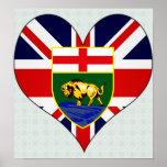 Amo Canadá Manitoba Poster