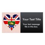 Amo Canadá Manitoba Tarjeta Con Foto Personalizada