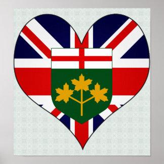 Amo Canadá Ontario Impresiones