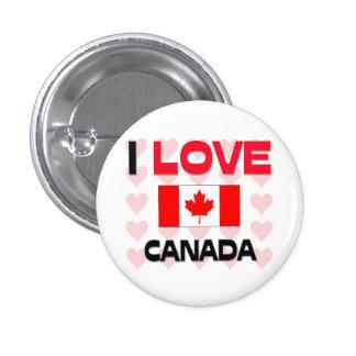 Amo Canadá Pin Redondo 2,5 Cm