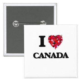 Amo Canadá Pin Cuadrada 5 Cm