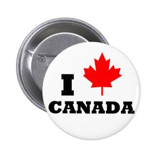 Amo Canadá Pin Redondo De 2 Pulgadas
