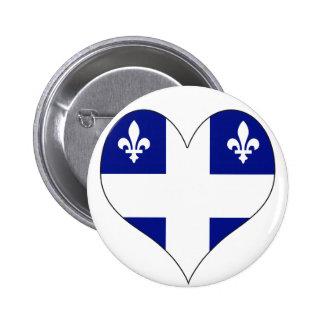Amo Canadá Quebec Pin Redondo 5 Cm
