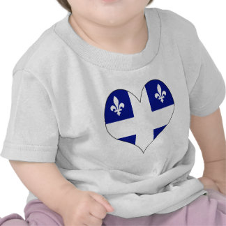 Amo Canadá Quebec Camisetas