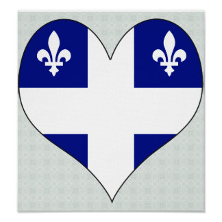 Amo Canadá Quebec Posters