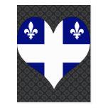 Amo Canadá Quebec Tarjetas Postales