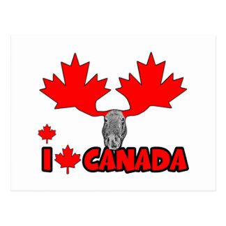 Amo Canadá Tarjeta Postal